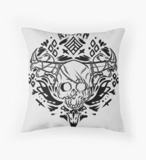 the iron bull romance tattoo  Throw Pillow