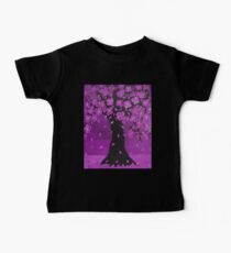 Purple Blossom Tree Design Art Baby Tee