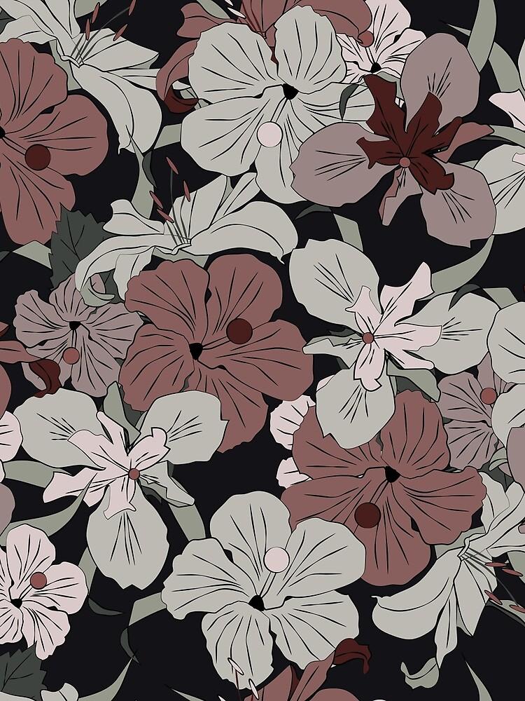 Dark Floral by MeredithWatson