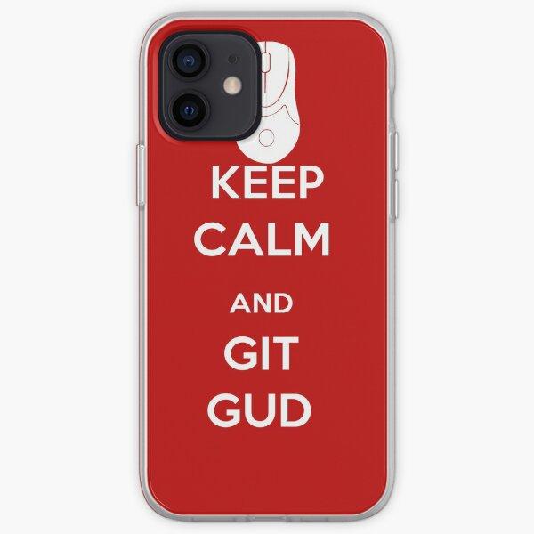 Keep calm and Git Gud.  iPhone Soft Case