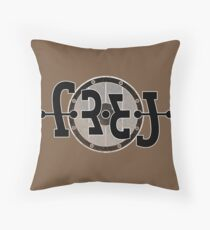 Frej ambigram Throw Pillow