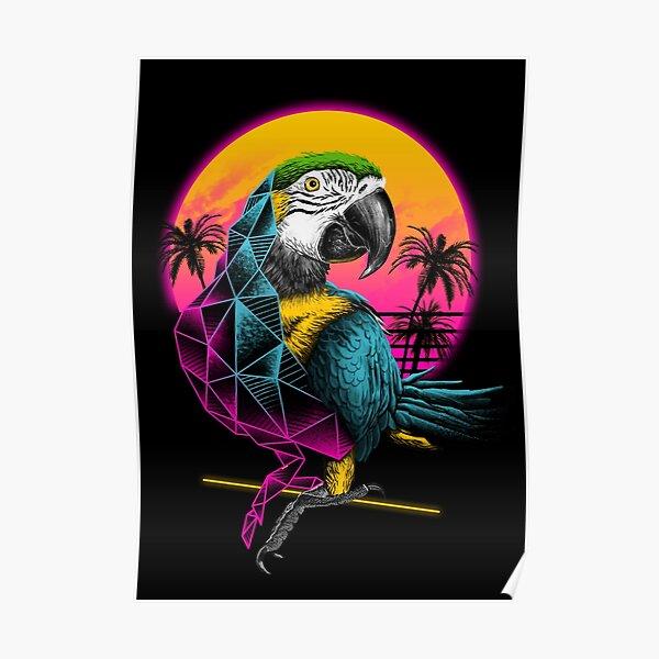 Rad Parrot Poster
