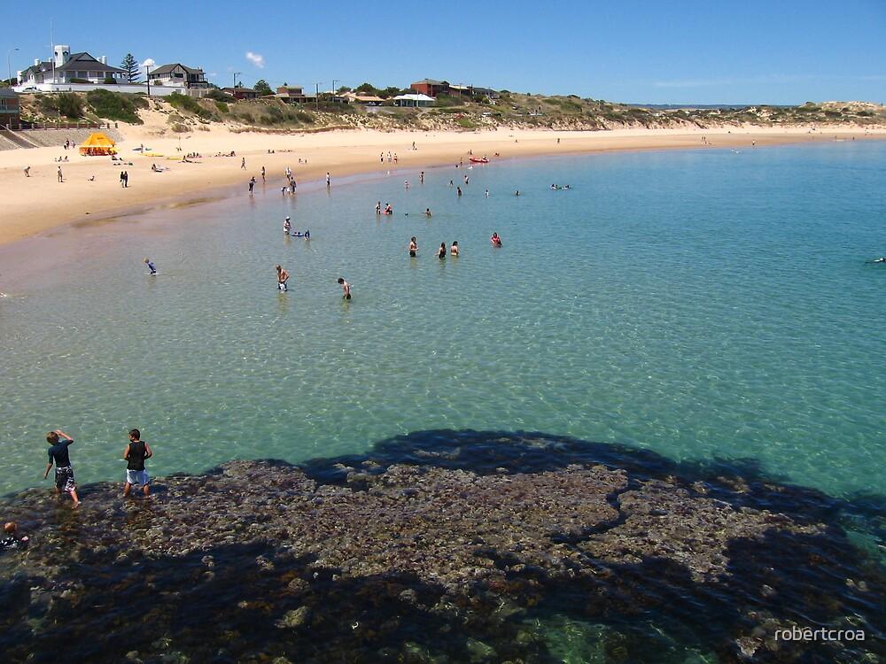 Port Noarlunga Reef and beach by robertcroa