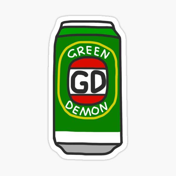 Green Demon Sticker
