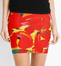 Red Petals Mini Skirt