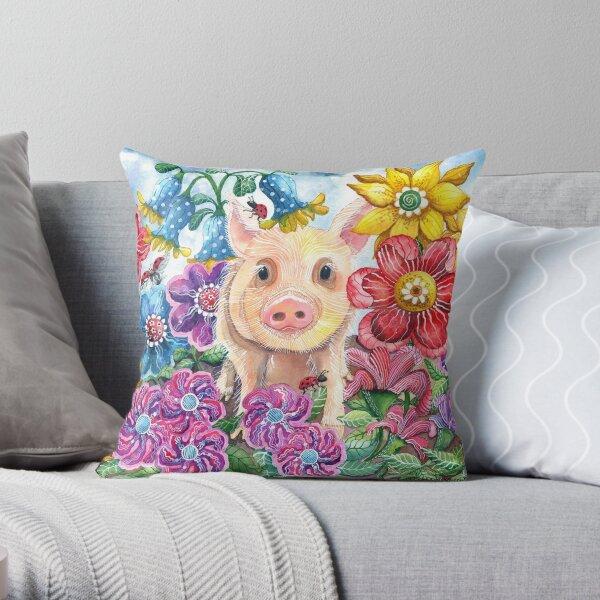 Penelope Pig Throw Pillow