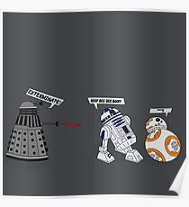Robot vs Droid Battle Poster