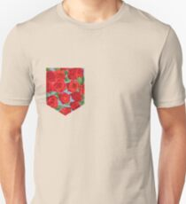 Floral Pattern Pocket Unisex T-Shirt