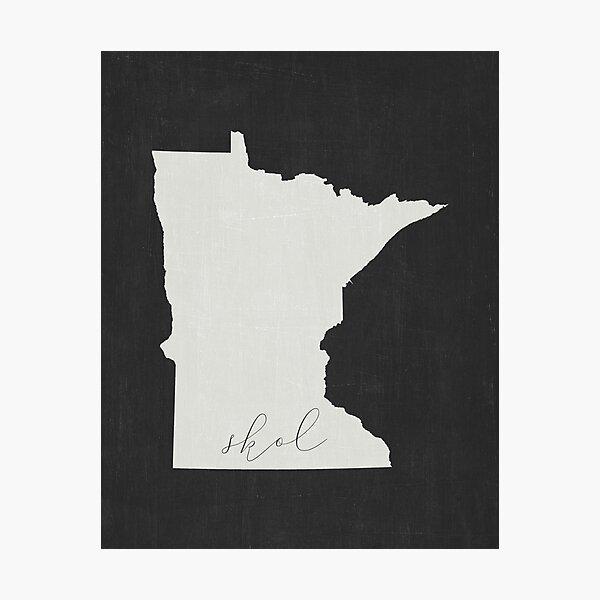 Skol Minnesota Vikings Photographic Print