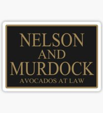 NELSON AND MURDOCK AVOCADOS AT LAW Sticker
