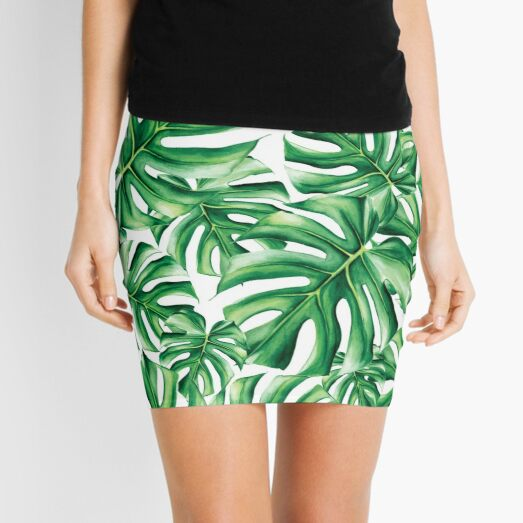 Monstera Leaf Mini Skirt