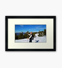 winter sports Framed Print
