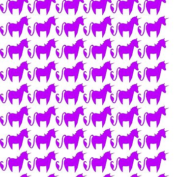 Purple Unicorn Pattern by sorakaji