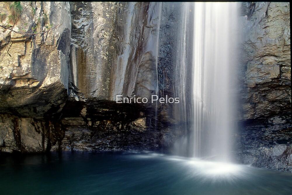 LIGURIA LANDSCAPES Ferraia Valley waterfall by Enrico Pelos