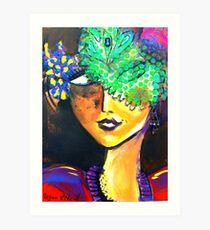 Confident Lady Art Print
