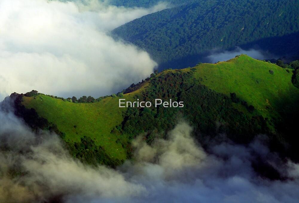 LIGURIA LANDSCAPES Saccarello valley clouds by Enrico Pelos