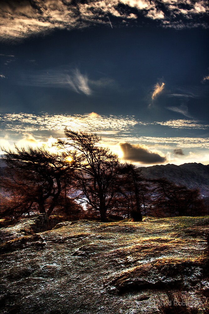 Sunrise on Castle Crag by David Robinson