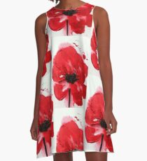 Remembrance Poppy A-Line Dress
