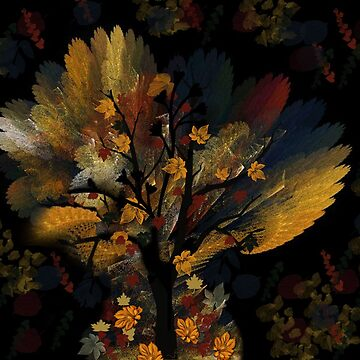 FALL TREE ABSTRACT by Spiritinme