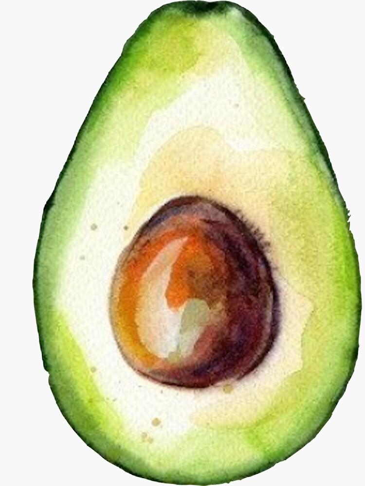 Watercolor Avocado by cea010