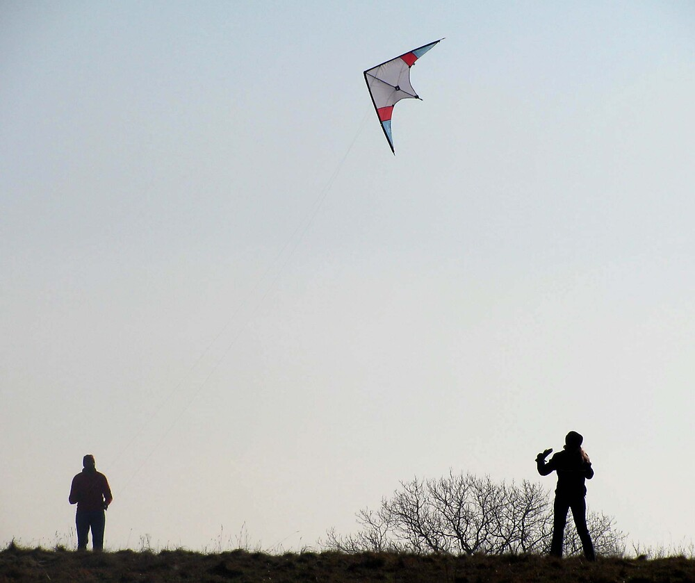flying a kite by Caroline Anderson