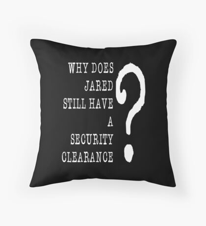 Jared Security Clearance Floor Pillow