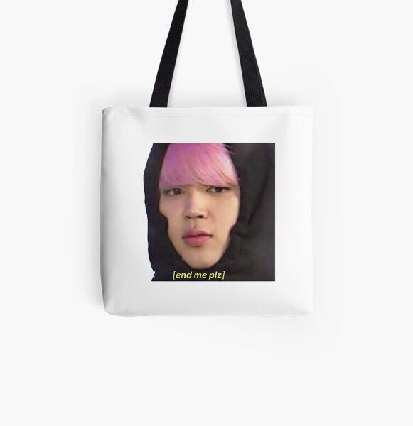 BTS- Jimin pls All Over Print Tote Bag