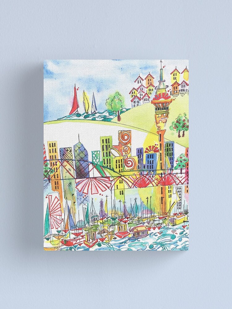Alternate view of Auckland cityscape Canvas Print
