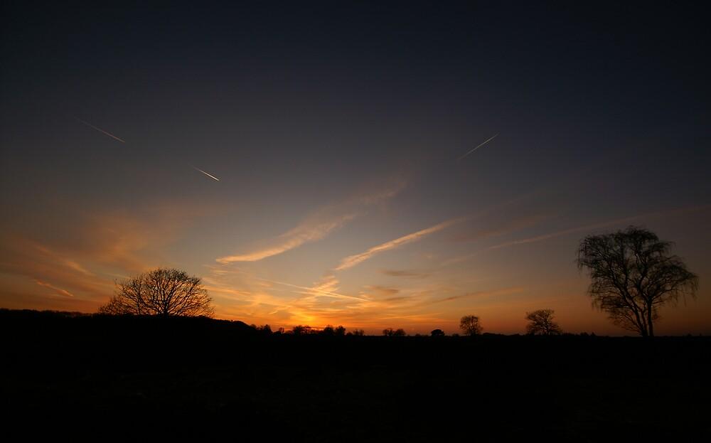 Sunset on Hoorneboegse heide by PeterBusser