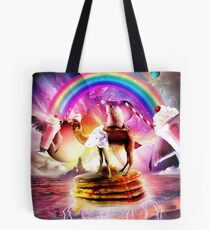 Hamster Riding Camel With Pancakes And Milkshake Tote Bag