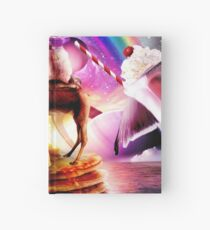 Hamster Riding Camel With Pancakes And Milkshake Hardcover Journal