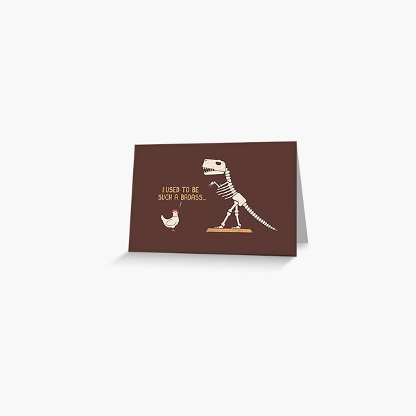 Badass Greeting Card