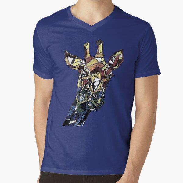 Cubism giraffe V-Neck T-Shirt