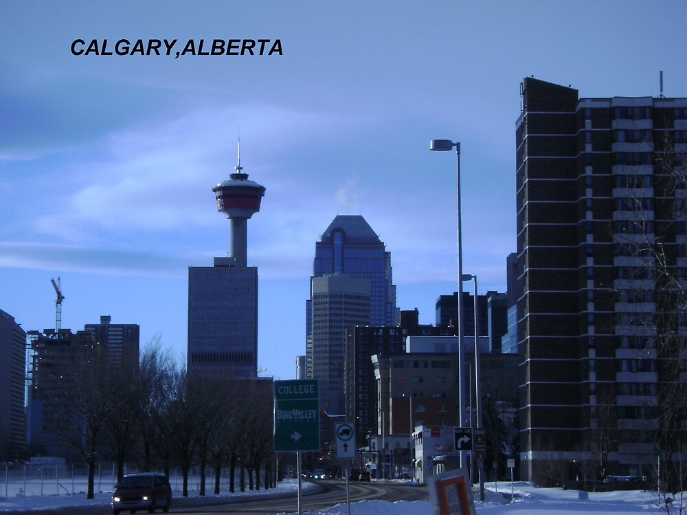 City of Calgary by JAMES ANDREW BANNERMAN