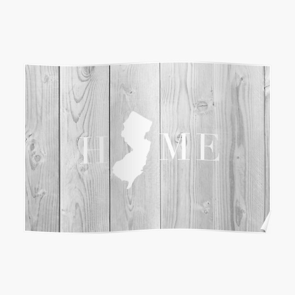 New Jersey Shaped Home Poster