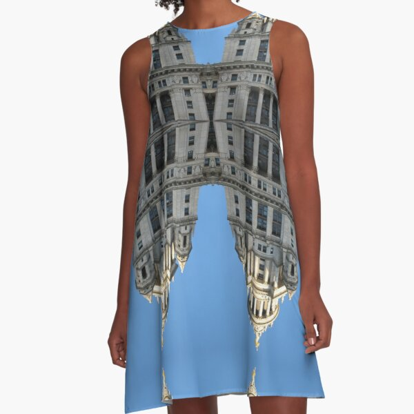 Architectural fantasies on the theme of Manhattan A-Line Dress