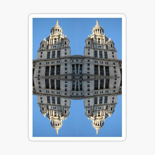 Architectural fantasies on the theme of Manhattan Sticker
