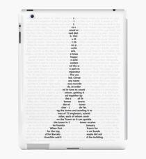 Eiffelturm Text Bild iPad-Hülle & Klebefolie