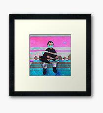 Boy on the Rocks Framed Print