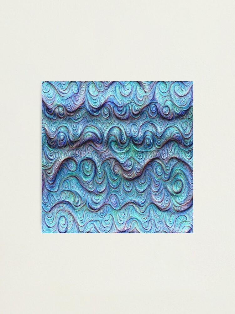 Alternate view of Frozen sea liquid lines and waves #DeepDream Photographic Print