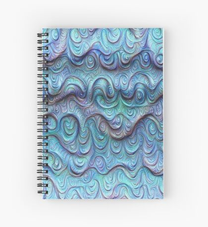 Frozen sea liquid lines and waves #DeepDream Spiral Notebook