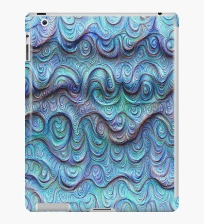 Frozen sea liquid lines and waves #DeepDream iPad Case/Skin