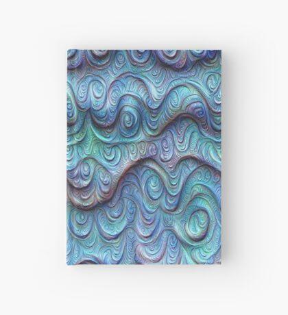 Frozen sea liquid lines and waves #DeepDream Hardcover Journal