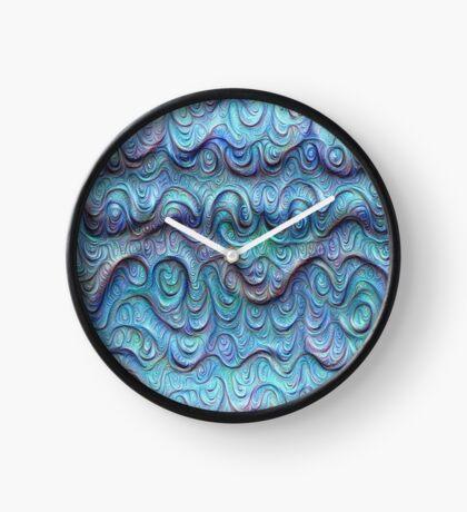 Frozen sea liquid lines and waves #DeepDream Clock