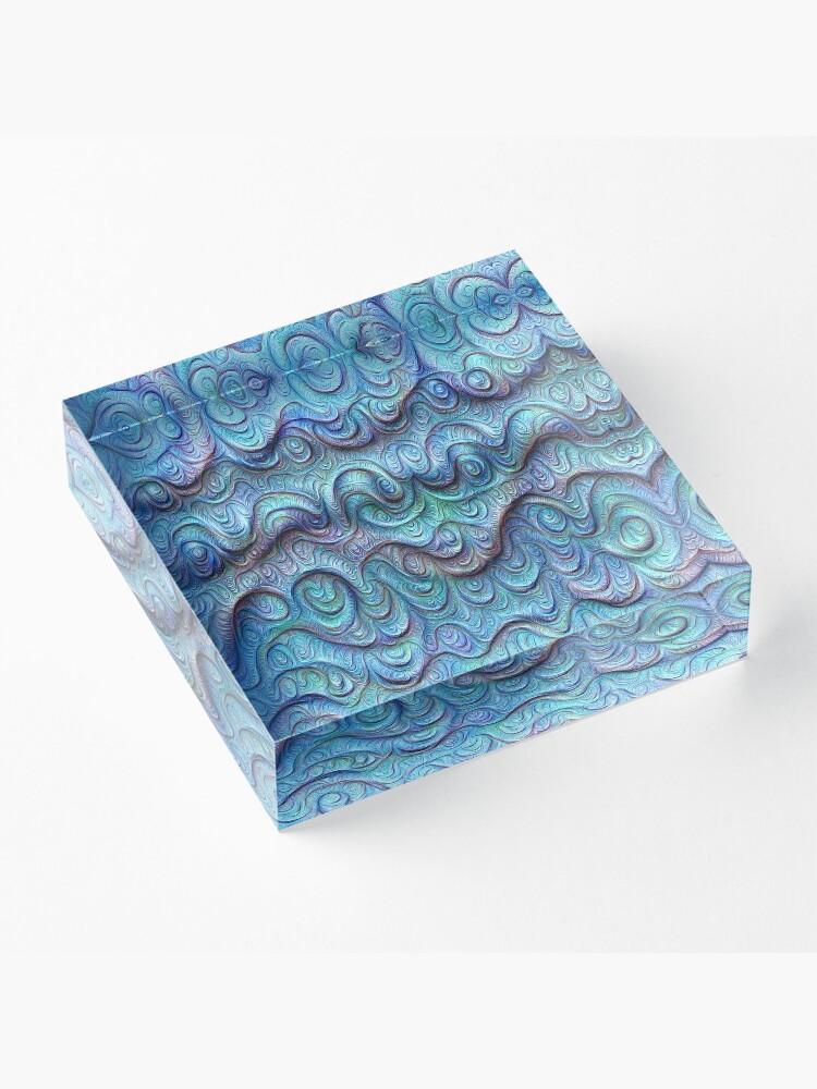 Alternate view of Frozen sea liquid lines and waves #DeepDream Acrylic Block