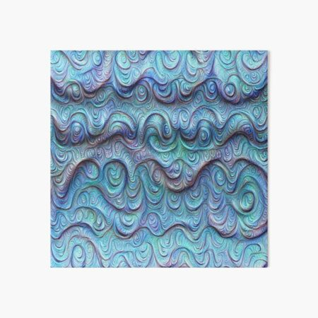 Frozen sea liquid lines and waves #DeepDream Art Board Print