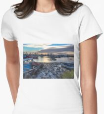 Fishing boats at rest Women's Fitted T-Shirt