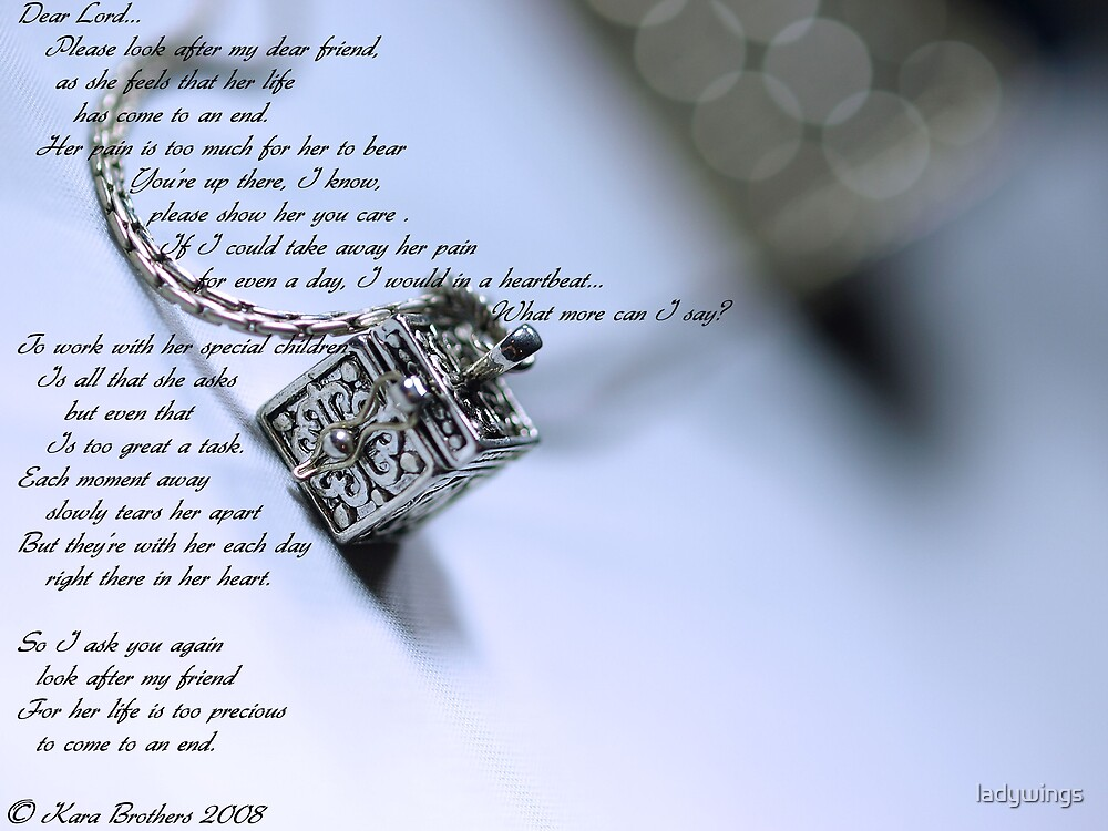 The Prayer Box with poem by ladywings