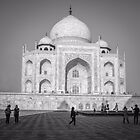 Tourists At Taj Mahal by Neha  Gupta