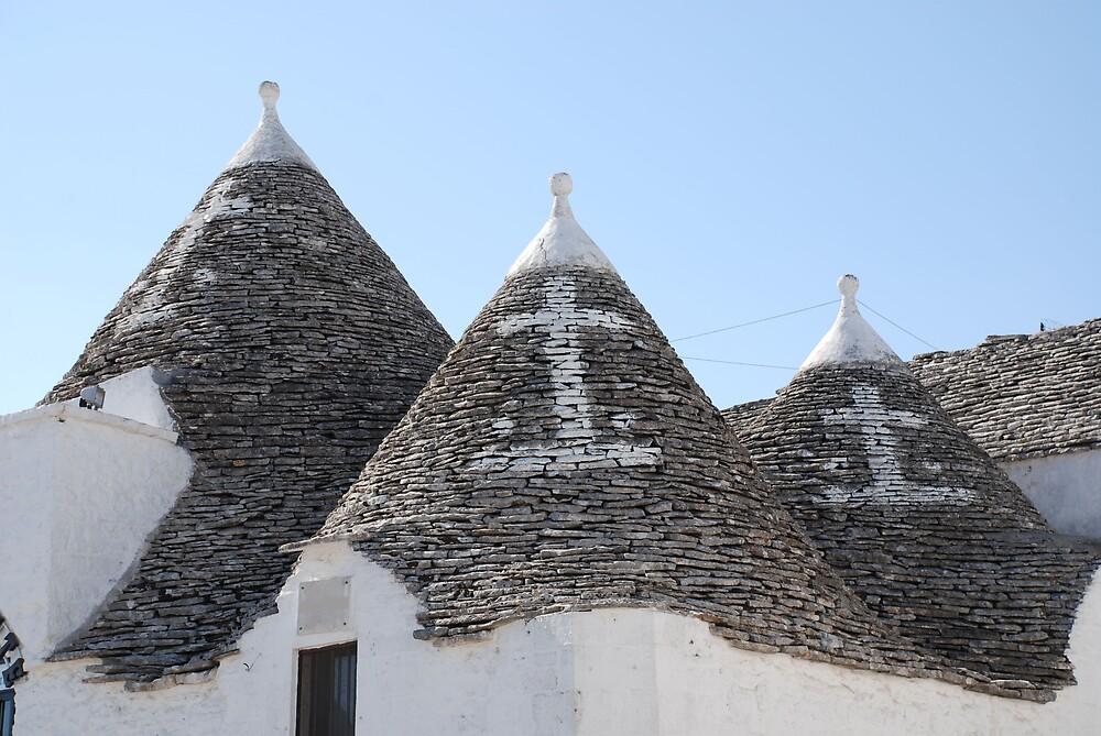 Christian Symbols on Trulli Roofs  by jojobob